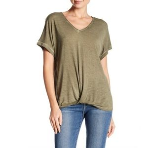 NWT Dantelle- Twist Front Tee in Military Olive